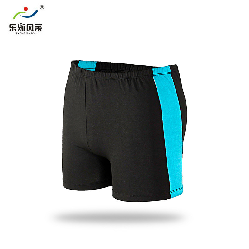 Le Yong Style Comfortable Lard-bucket MEN'S Swimsuit Fashion Boxer Spell Edge Adult Plus-sized Swimming Trunks