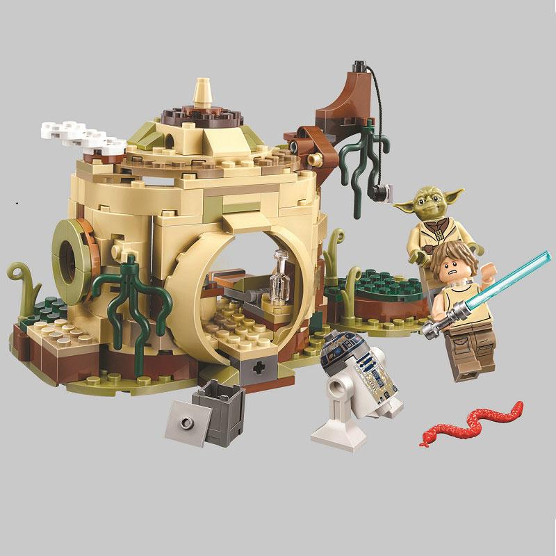 10904 Star Wars Planeten Dagobah Yoda der Hütte R2-D2 Ausbildung Baustein Ziegel Spielzeug Kompatibel Mit 75208