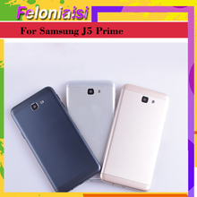 10pcs/lot Battery Cover Housing For Samsung Galaxy J5 Prime ON5 2016 G570 G570K Back Cover Case Rear Door Replacement Parts 10pcs lot for samsung galaxy j5 prime on5 2016 g570 g570k housing battery cover back cover case rear door chassis shell