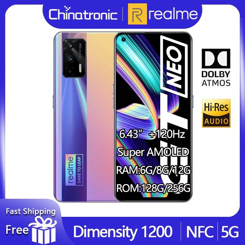 Оригинальный realme GT Neo 5G мобильный телефон 128 ГБ 6,43