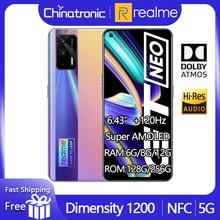 Original realme gt neo 5g telefone móvel 128gb 6.43