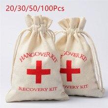 20/30/50/100 adet Hangover kiti çanta düğün misafirler için hediyeler yanadır tutucu çanta bekarlığa veda bekarlığa veda parti malzemeleri