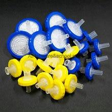 100 Uds. 200 Uds. Filtro microporoso hidrofílico de 13/25mm, 0,22/0,45/0,8/3/5um, filtración de miliporos de jeringa de CA CN
