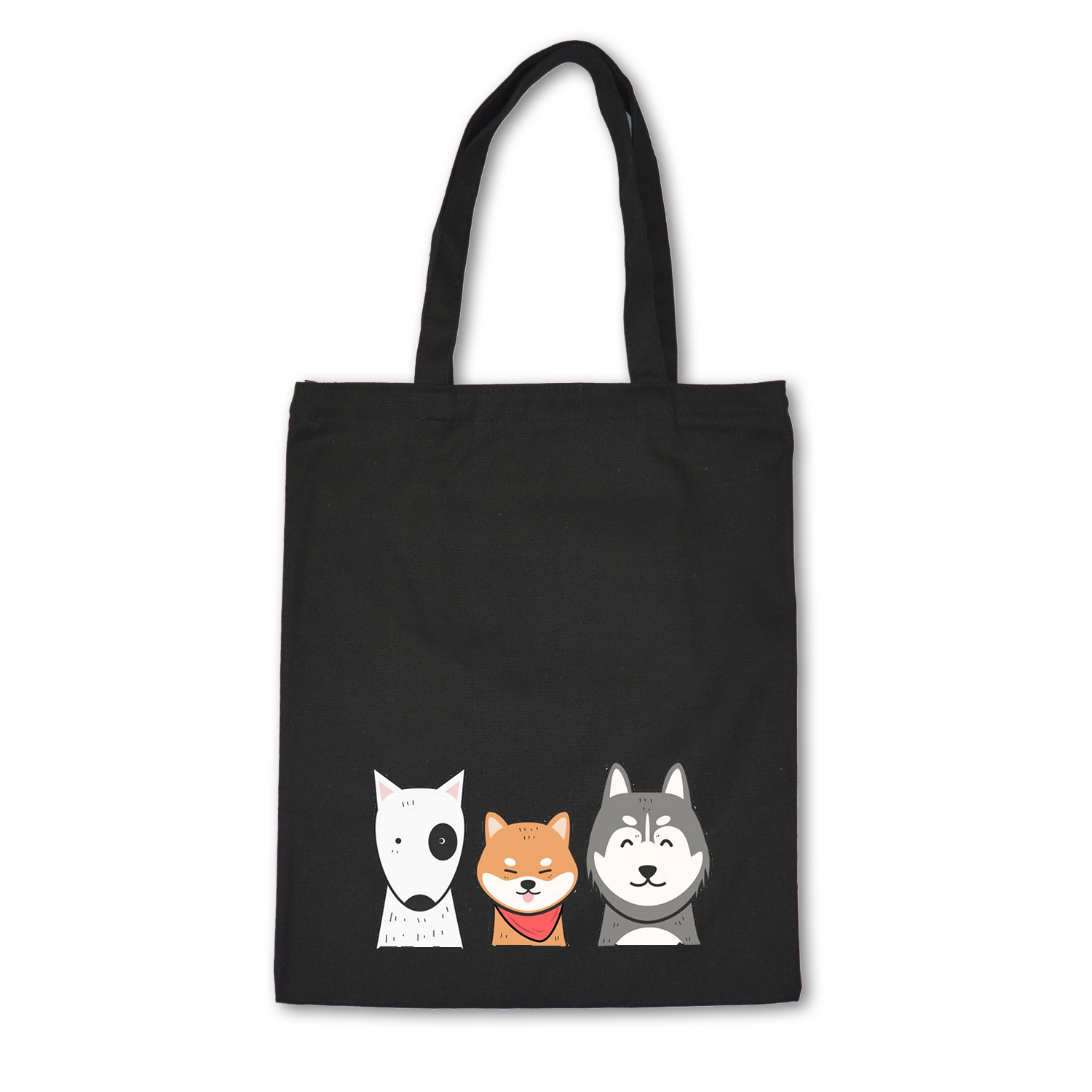 Cute Animals Women Canvas Shoulder Bags Female Eco Cloth Handbag Tote Grocery Reusable Foldable Shopping Bag Cotton Lining Pouch