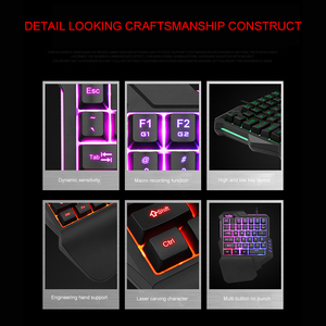 Image 2 - Light One Handed Mechanical Gaming Keyboard 35 Keys Gaming Keypad Cool Light RGB Backlit Game Controller For PC PS4 Xbox