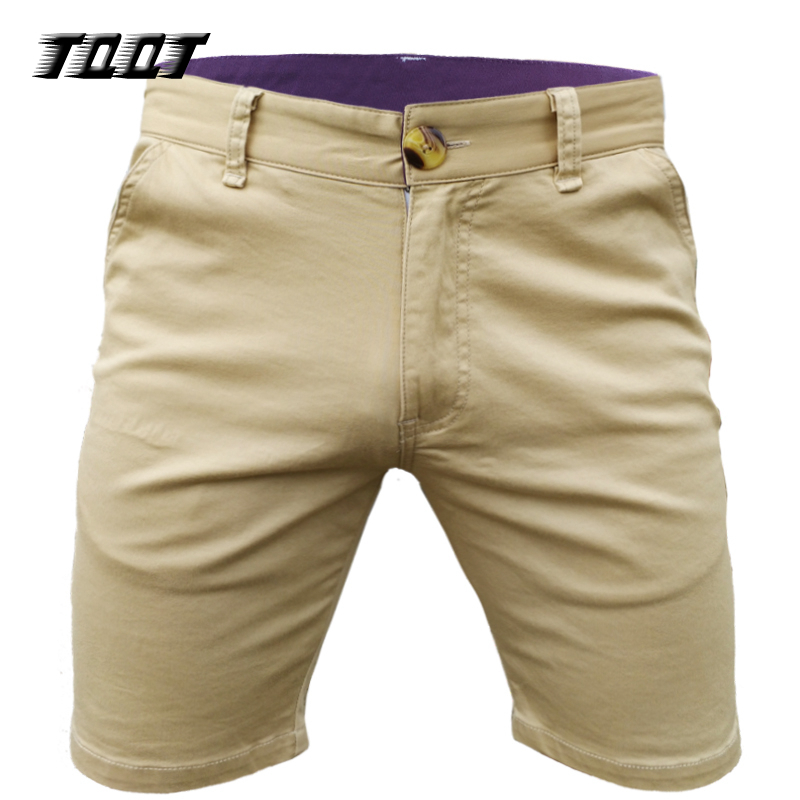 TQQT Shorts Elastic Waist Slim Knitted Cargo Short Cotton Material Bermuda Pockets Men'S Short Breathable Solid Shorts 7P0118