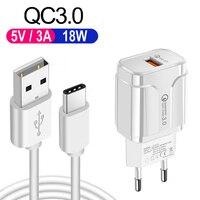 USB Cable cargador para Samsung A32 A12 A52 A72 A42 5G Nota 8 9 10 Pro Motorola G9 G8 juego de poder más QC 3,0 USB cargador de Cable