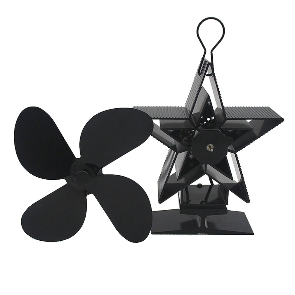 Heat Powered Stove Fan Premium Fireplace Thermodynamic Fan Alumina Fan Blade Ultra Quiet Warm Fireplace Fan Thermal Power Fan