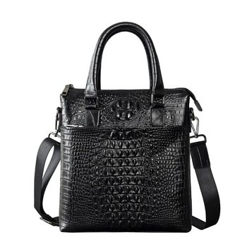 crocodile 100% Genuine Leather Bag Men Bag Cowhide Men Crossbody Bags Men's Travel Shoulder Bags Tote ipad Briefcases Handbag