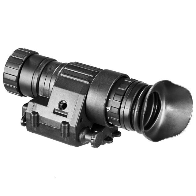 PVS14 للرؤية الليلية حملق أحادي العين 200 متر نطاق الأشعة تحت الحمراء IR NV نطاق الصيد مع جبل للرؤية الليلية مشاهد
