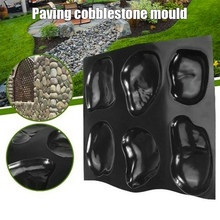 Casts Master Pebbles Concrete Mold Step Stones Plaster Mold Cobblestones Mould Plastic PAK55(China)