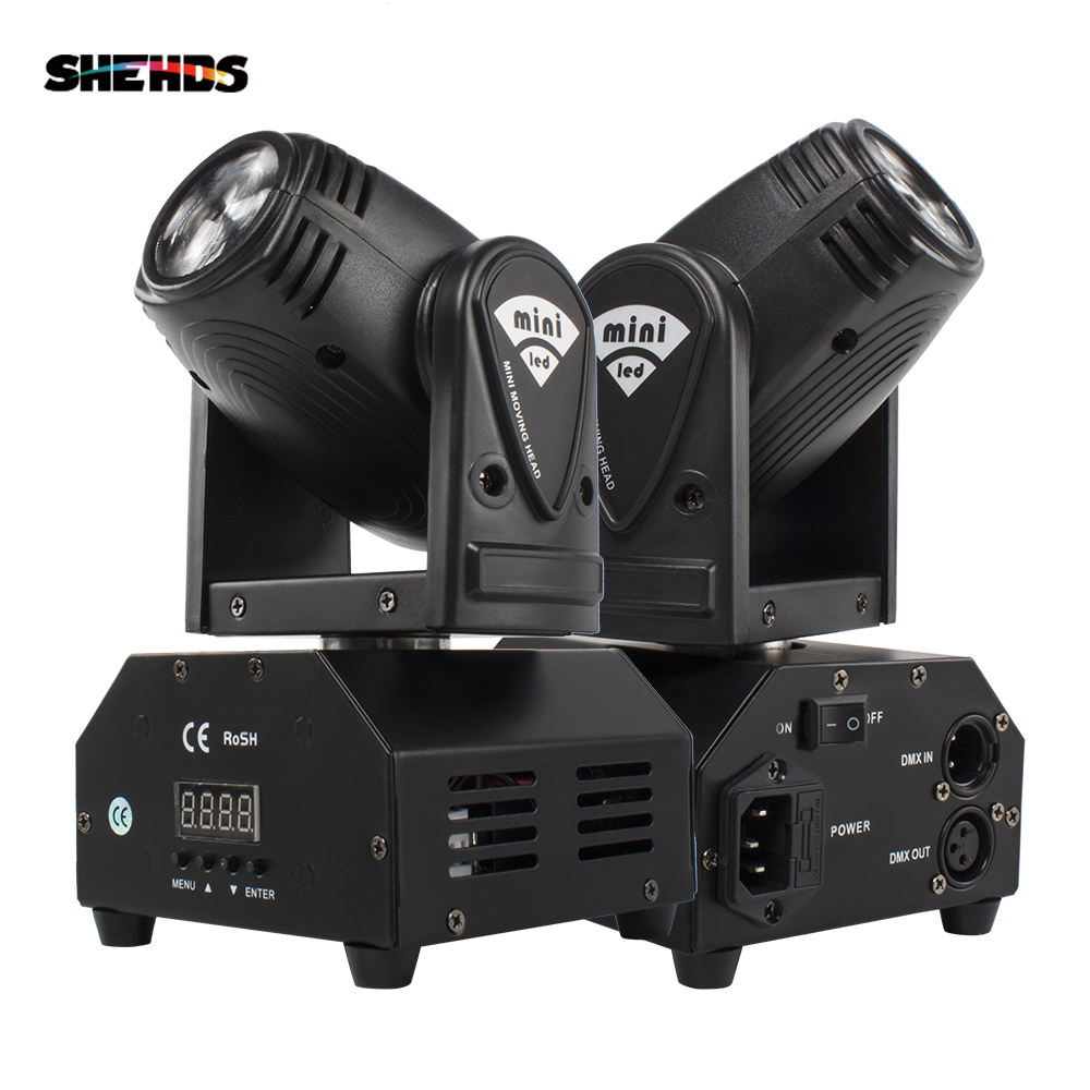 SHEHDS Moving-Head-Light Disco DMX Stage-Effect Music 10w Beam Event Party Mini Sound-Mode