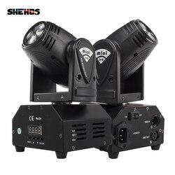 Мини-светильник с движущейся головкой 10 Вт, 2 шт., 4 в 1 для вечерних дискотек, DMX, сценический эффект, профессиональный режим звука для событий,...