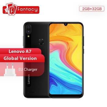 Перейти на Алиэкспресс и купить Смартфон Global Verdion Lenovo A7 SPREADTRUM SC9863A, Восьмиядерный, 2 Гб, 32 ГБ, 6,09 дюйма, HD экран, 4000 мАч, 13 МП, AI, двойная камера, мобильный телефон