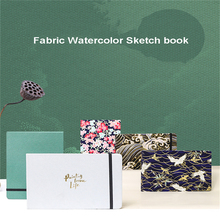 Portable Professional Watercolor Paper 20 Sheets Cloth Cover Hand Painted Book for Artist Student Travel Supplies