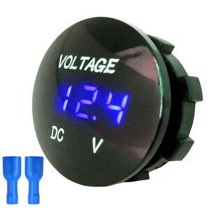 DC 12V-24V Digital Voltage Meter Car Motorcycle Voltmeter Voltage Tester for Car Auto Motorcycle Boat ATV Truck(China)
