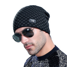 Warm Knitted Hat Men Solid Knitted Warm Soft Trendy Hats Winter Hat Solid Hip-hop Beanie Hat Unisex Cap Outdoor Ski Caps Bonnet knitted lace up warm beanie