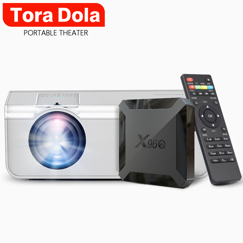 Tora Dola Mini Projector Home Cinema, HDMI Support Max Resolution Full HD Projector For Ps5 X Box Optional Android 10.0 Set TD90