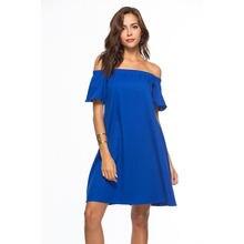 Женское Шифоновое Платье До Колена повседневное однотонное платье