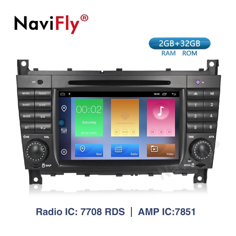 Lecteur DVD multimédia de voiture Android 9.1 pour mercedes-benz W203 W209 W169 W219 classe A A160 c-clas C180 C200 CLK200 CLK350 Canbus