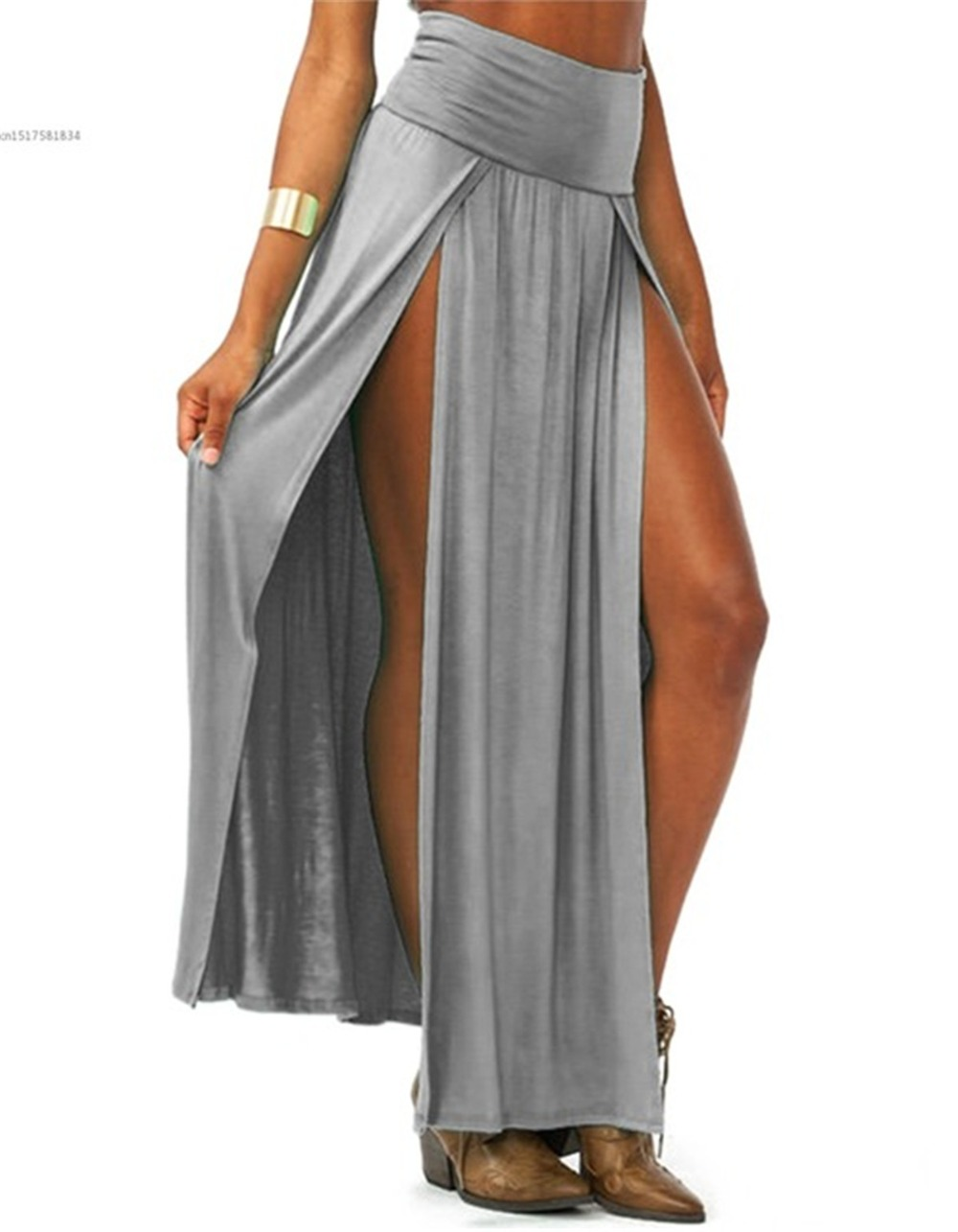 2019-New-Arrival-High-Waisted-Sexy-Womens-Double-Slits-Summer-Solid-Long-Maxi-Skirt-Wholesale-51.jpg_640x640 (1)