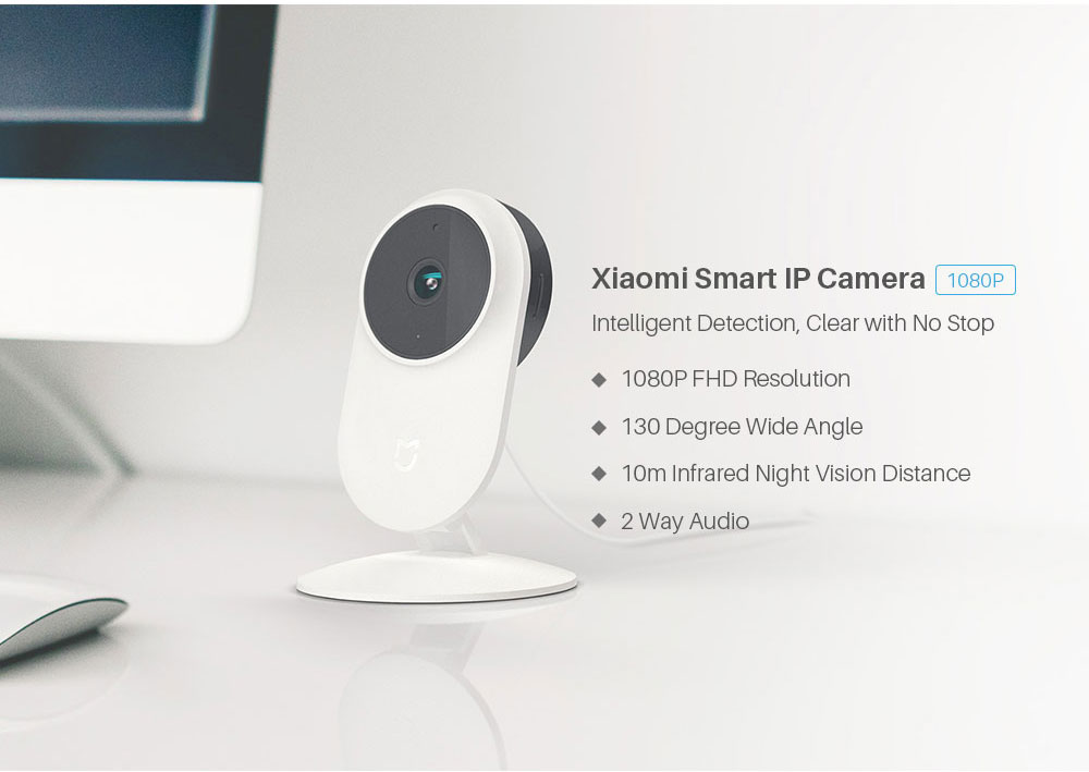 Xiaomi Mijia Smart Home IP Webcam 2.4G5.0GWiFi Wireless 1080P 130 Degree Wide Angle 10m Infrared Night Vision Cam APP Control (1)