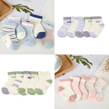 5Pair / lot New newborn socks cotton cute cartoon boys and girls baby foot sock