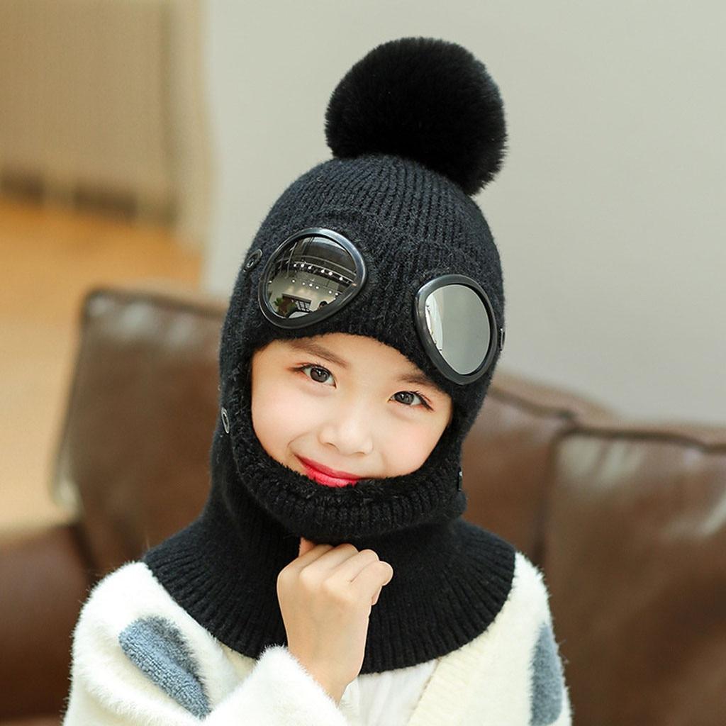 Baby Kids Baseball Cap Hat Visors Rabbit Ear Winter Wool Hat Beanie for 4-8Y Girl Boy Easter Cap Warm Hat