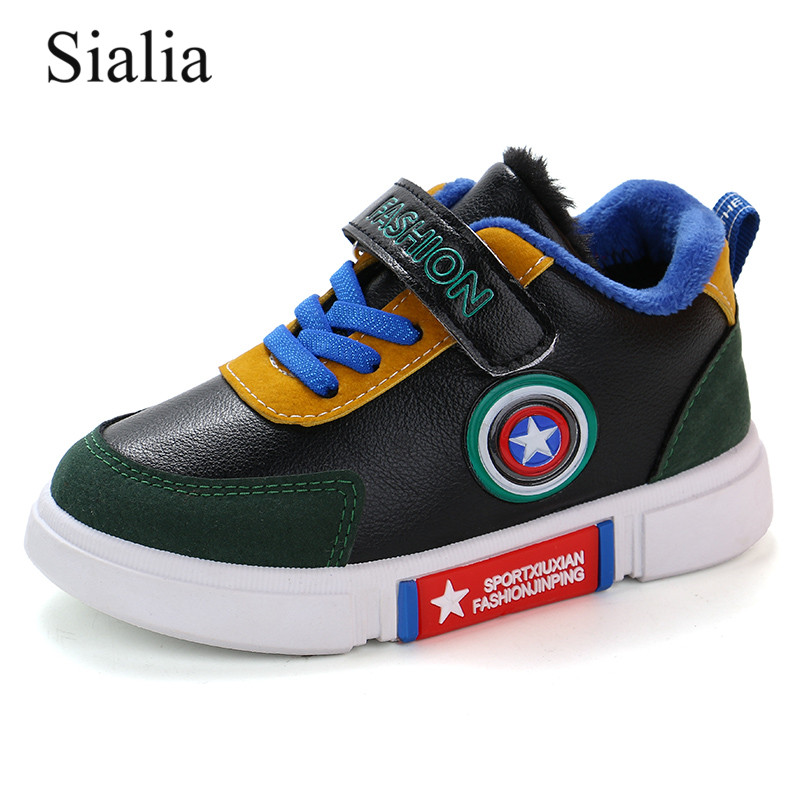 Sialia Winter Children Shoes For Kids Sneakers Boys Casual Shoes Girls Sneakers Warm Plush Running Sport Fashion Tenis Infantil