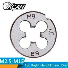 XCAN 1 шт. M2 M3 M4 M5 M6 M7 M8 M9 M10 M12 M14 M15 M16 правая рука винторезный мундштук металлический резьбонарезные инструменты Метрическая винторезный мундштук