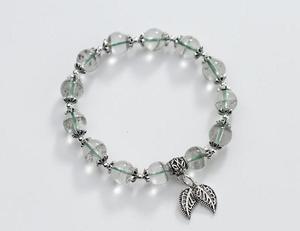 По-настоящему. Аутентичные 925 пробы серебряные ювелирные изделия счастливый шар Ретро зеленый фантомный кварц камень и лист браслет цепочк...