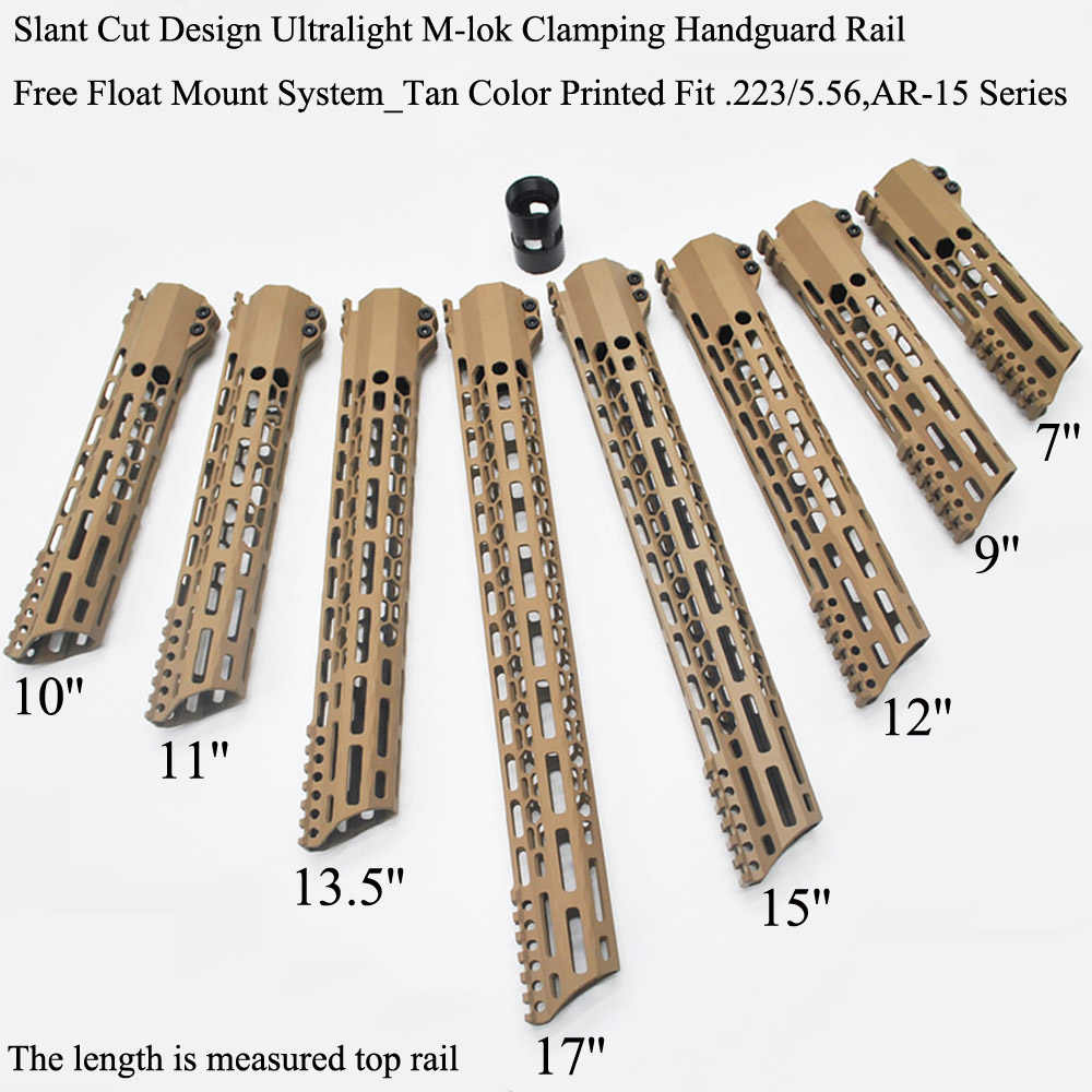 12 14 Inch MLOK Keymod Handguard Free Float Super Slim Ar