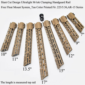 TriRock TAN/FDE 7/9/10/11/12/13.5/15/17'' inch New Style M-lok Clamping Handguard Rail Free Float Mount System Fit .223/5.56(China)