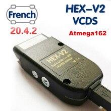 2020 mais novo vcds hex v2 interface vag com 20.4 vagcom 20.4.2 para vw audi skoda seat vag 20.4 inglês francês atmega162