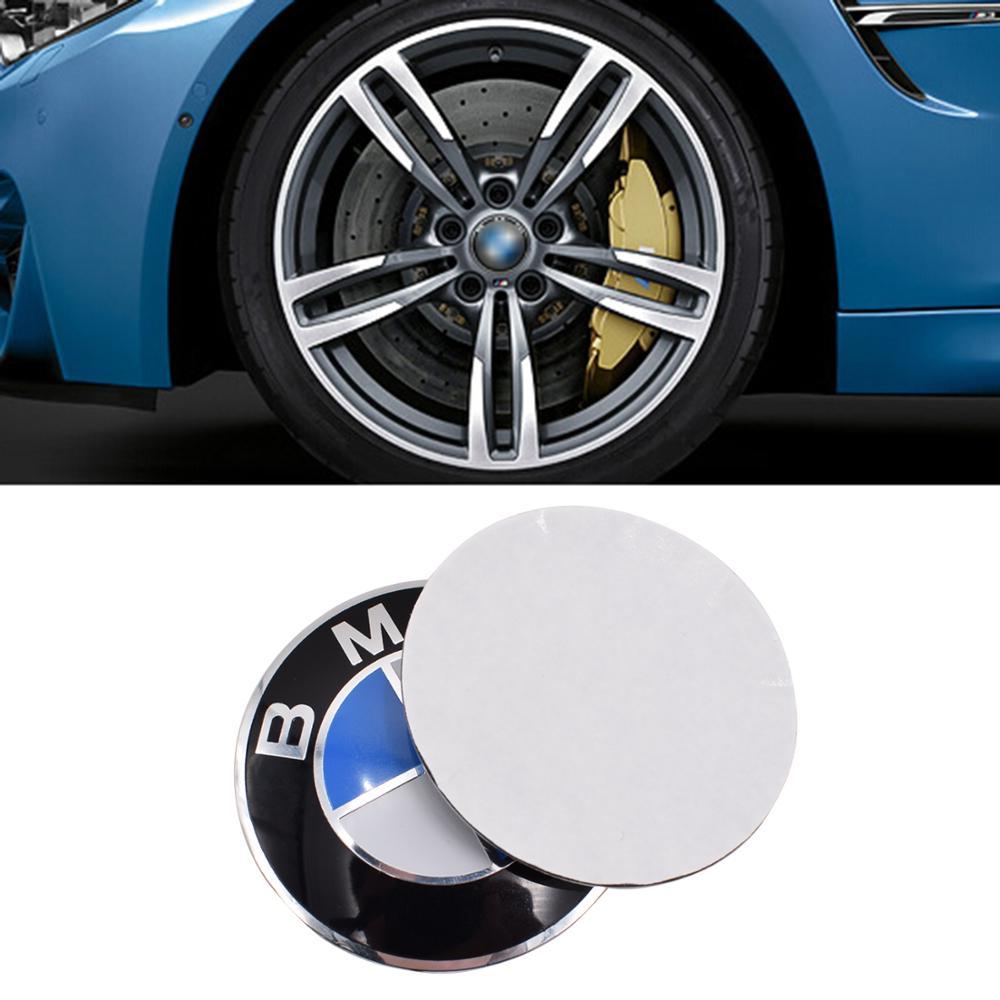 4pcs 56mm calotas Centro Da Roda cap Hub etiqueta do emblema do emblema do carro de alumínio Para bmw Car Styling 3D logotipo Do Carro Autocolantes calotas