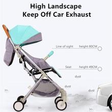 عربة أطفال خفيفة ذات مناظر طبيعية عالية عربة أطفال بأربعة عجلات قابلة للطي محمولة عربة سفر للأطفال حديثي الولادة