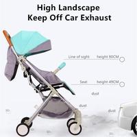 Ultralight Baby Stroller High Landscape Four wheeled Trolley Baby Carrier Folding Portable Traveling Pram for Newborns Children