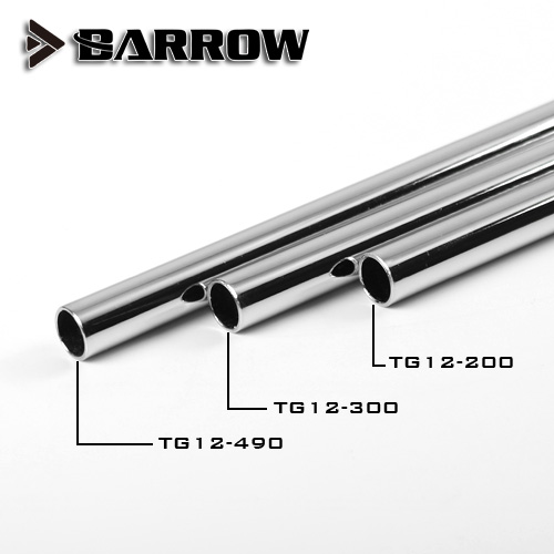 Barrow Metal Tube ( ID10mm + OD12mm ) + 1mm Thickness + 20 /30 /49cm Length Brass Pipe Surface Electroplating Cooling Tube
