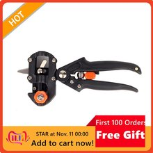 Garden Tools Pruner Chopper Vaccination Cutting Tree Garden Grafting Tool Cutting Machine with 2 Blades Plant Shears Scissors