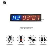 Тренажерный Зал Таймер Большой размер Мути-функциональные светодиодные часы с функцией обратного отсчета 4 дюйма Высота характер спортивные таймеры