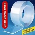 1/2/3 3cm Doppelseitiges Klebeband Waschbar Feste Teppich Buchse Klebstoff Transparent Bänder gekko band Kleber Gadget Acryl universal