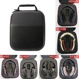 Image 5 - קשה אחסון מקרה PU EVA נסיעות תיבת עבור Sennheiser HD598 HD600 HD650 אוזניות אוזניות אוזניות תיק מקרה גבוהה איכות dropship
