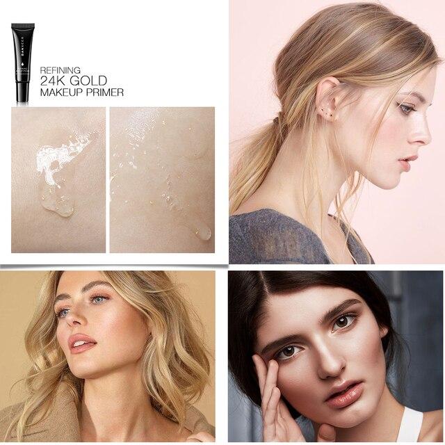 BANXEER 24k Gold Makeup Primer Gel Makeup Primer Face Lips Eyes Makeup Invisible pores Whiten Base Pore Perfecting Prime Makeup 2
