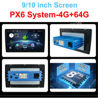 4G 64G Android 9.0 Universal 1 din auto Multimedia Player car radio 2din Stereo 10 car Player Auto Radio HDMI PX6 System