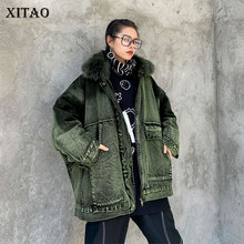 Women Parkas Pocket Casual-Style Fashion XITAO Full ZY2075 Goddess-Fan Loose New