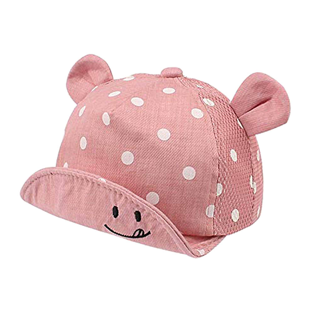 Hc06ec4fc40184fa8aa7f819c71e5c90bK - Children Sun Hats Toddler Cap Cute Dot Baby Caps Girl Boys Sun Hat With Ear For Spring Newborn Photography Props Baseball Cap#20