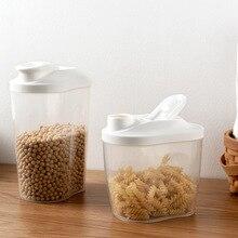 Кухонные принадлежности бак для хранения зерна большой размер прозрачный пластик с крышкой банка для хранения орехи, еда закупориваемая банка