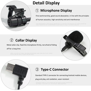 Image 5 - ميكروفون صغير Mic USB C نوع C ميكروفون مكثف تسجيل الصوت لهواوي شاومي سامسونج أندرويد الهاتف USB C ميكروفون
