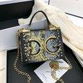 2021 Европейская и американская модная универсальная сумка-мессенджер через плечо с надписью, новая популярная сумка с узором в виде змеи, ма...