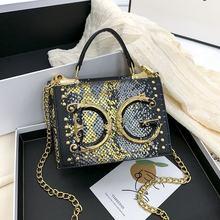 2021 europeu e americano moda carta versátil ombro mensageiro saco novo popular padrão de cobra bolsa pequena bolsa quadrada
